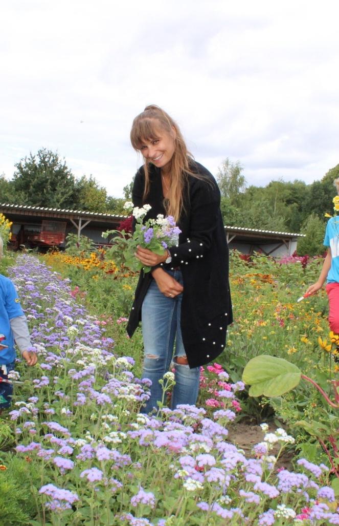 Blumenpflücken Gut Wulksfelde